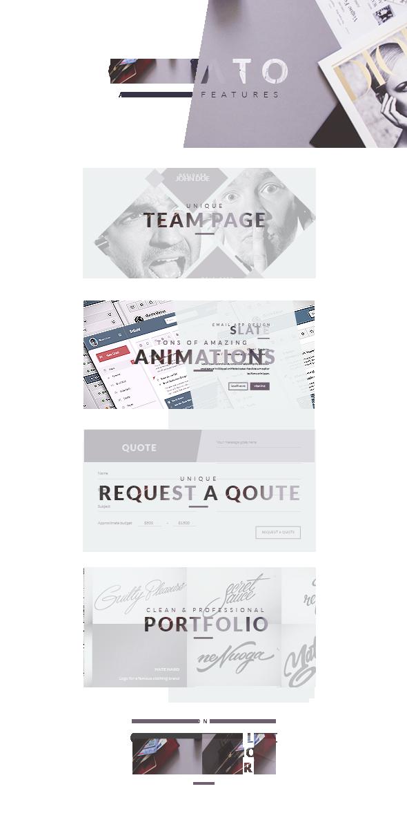 Creato - Creative & Modern HTML Template